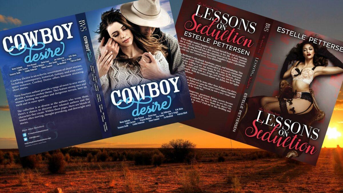 Stories published by Black Velvet Seductions featuring work by romance author Estelle Pettersen.