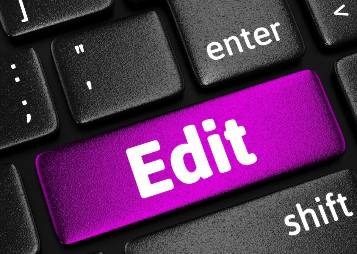 Tips on book editing